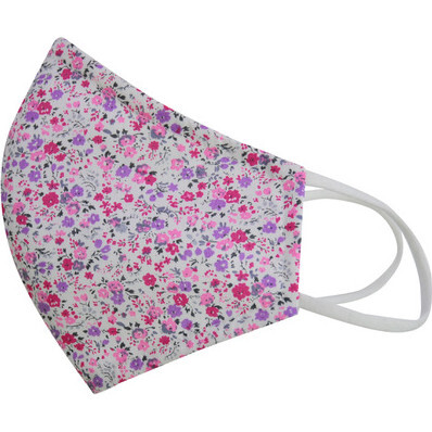 Liberty™ Edition  Cotton Face Mask, Mini Fuschia Floral - Other Accessories - 1