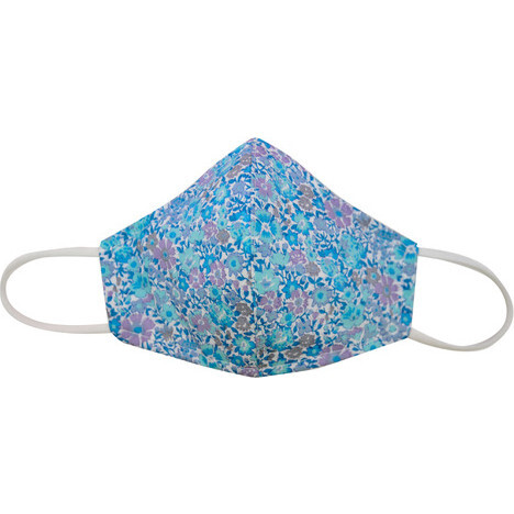 Liberty™ Edition  Cotton Face Mask, Mini Turquoise Floral