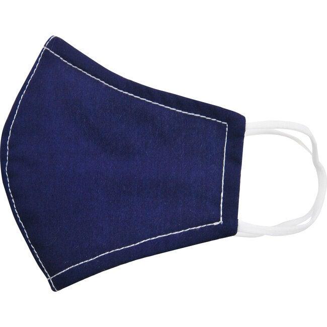 Cotton Poplin Face Mask, Solid Navy