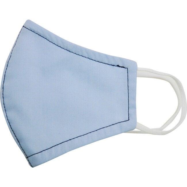 Cotton Poplin Face Mask, Light Blue - Face Masks - 1