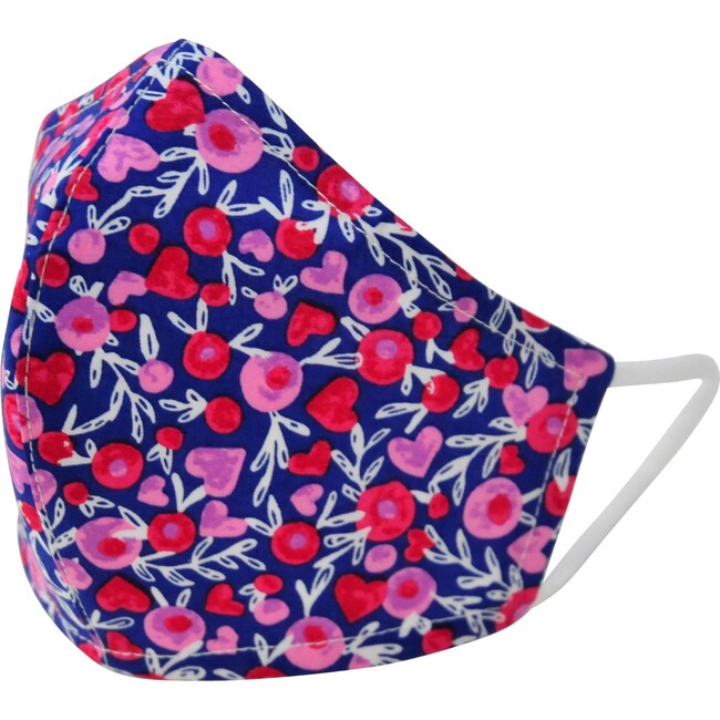 Cotton Face Mask, Hearts and Flowers