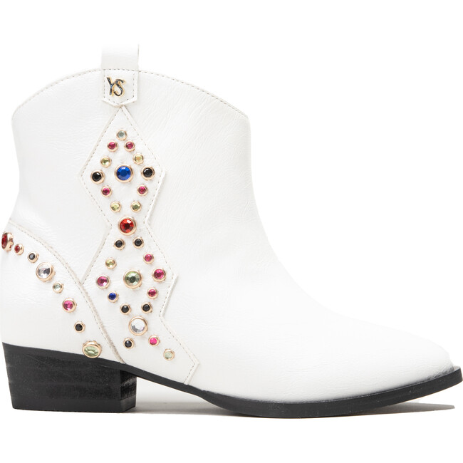 Miss Dallas Embellished Cowboy Boot, White