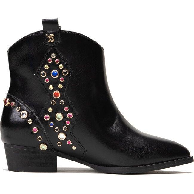 Miss Dallas Embellished Cowboy Boot, Black