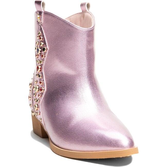 Miss Dallas Embellished Cowboy Boot, Light Pink Metallic