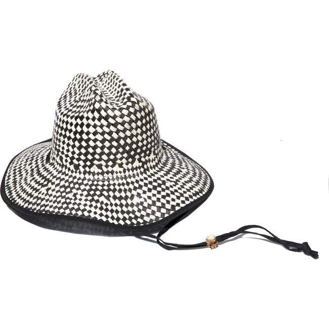 Women Straw Checkered Hat - Hats - 1