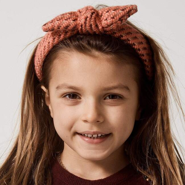 Kids Knitted Bow Tie Knotted Headband, Orange