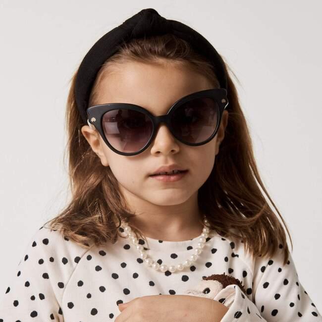 Kids Linen Knotted Headband, Black