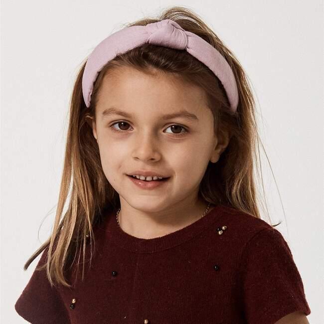 Kids Linen Knotted Headband, Purple