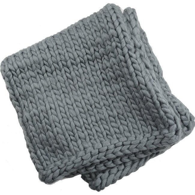 Thick Knit Blanket, Gray