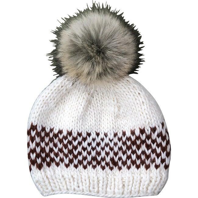 Fair Isle Stripe Hat, Cinnamon - Hats - 1