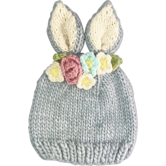 Bunny with Flowers, Gray