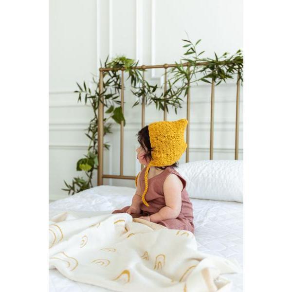 Honeycomb Bonnet, Mustard