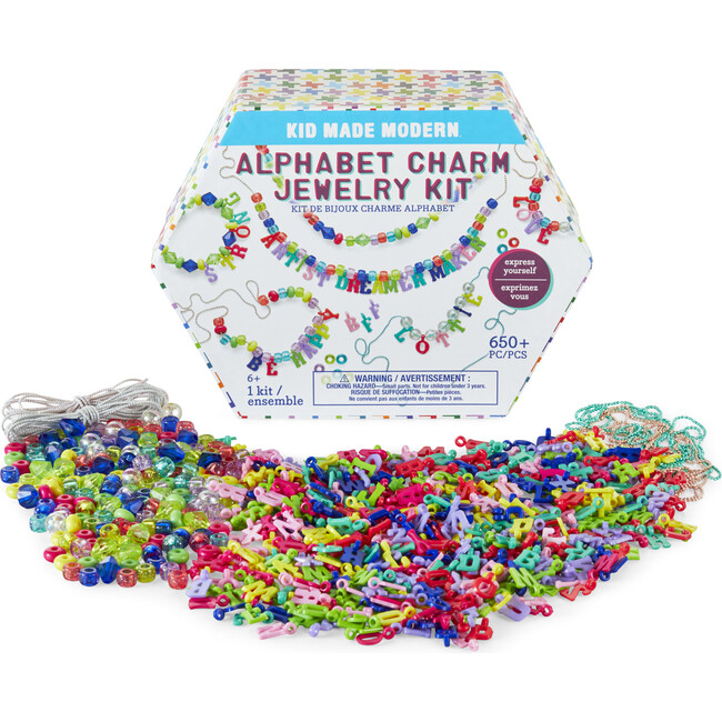 Alphabet Charm Jewelry Kit - Arts & Crafts - 1