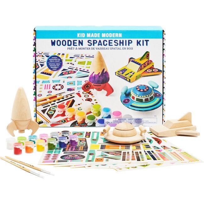 Wooden Spaceship Craft Kit - Arts & Crafts - 1