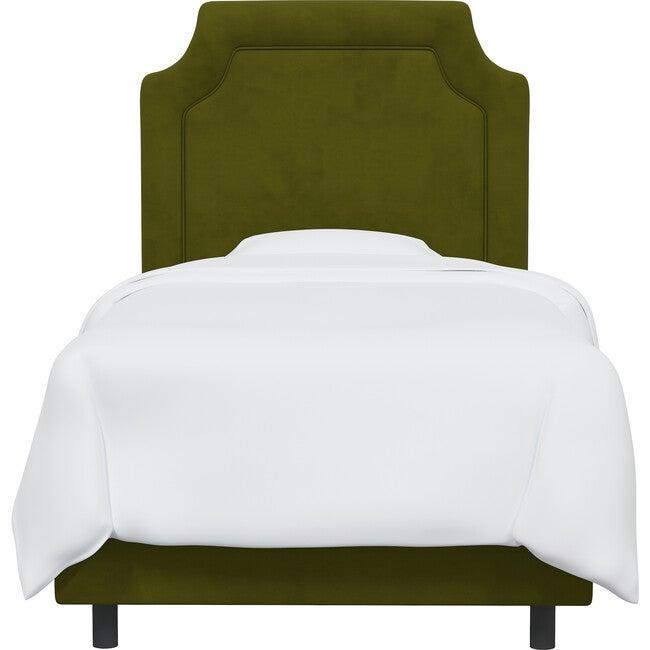 Emerson Bed, Velvet Applegreen