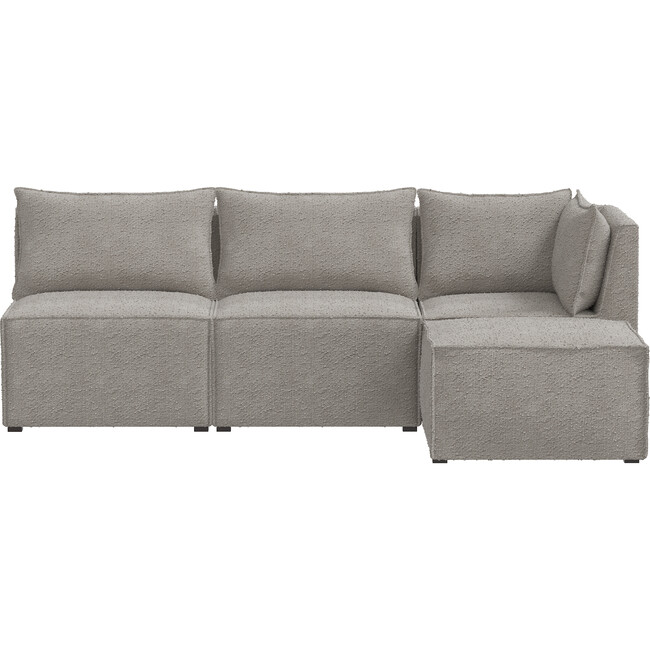 Piper 4 Piece Sectional, Milano Elephant
