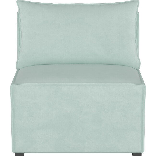 Emery Sectional Chair, Velvet Pool