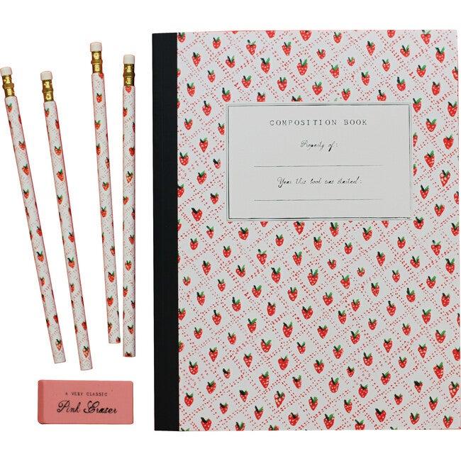 The Essentials School Supply Set, Strawberry