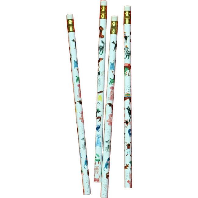 Set of 4 Pencils, Doggies