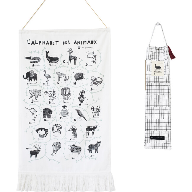 Animal Alphabet Printed Tapestry - French