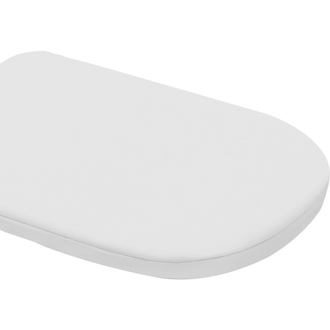 Oval Fitted Bassinet Sheet Set, White Cotton