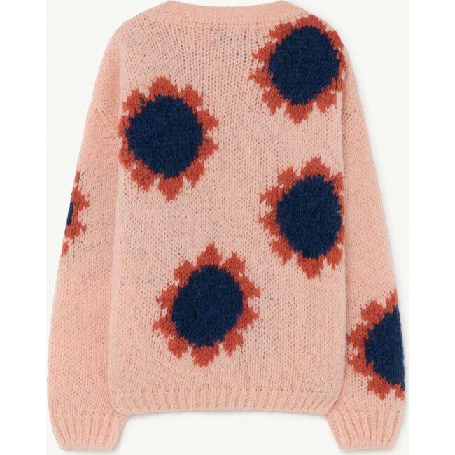 Flowers Bull Sweater, Soft Pink Logo