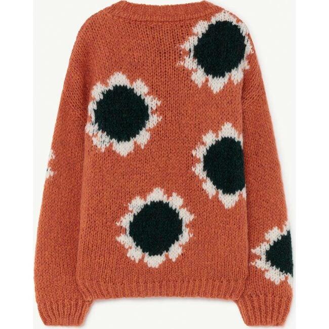 Flowers Bull Sweater, Orange Logo