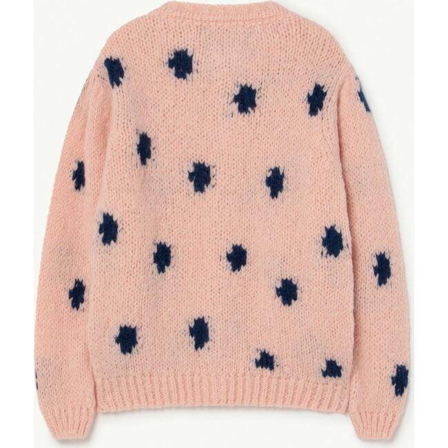 Dots Racoon Cardigan, Soft Pink Logo