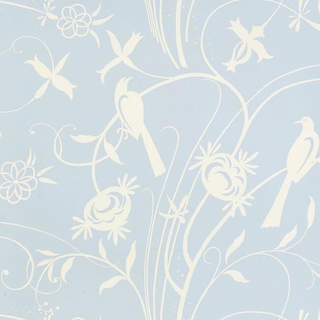 Sky Meadow Wallpaper, Light Blue - Wallpaper - 1