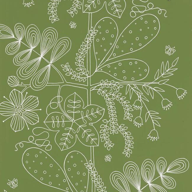 Blommen Wallpaper, Leaf