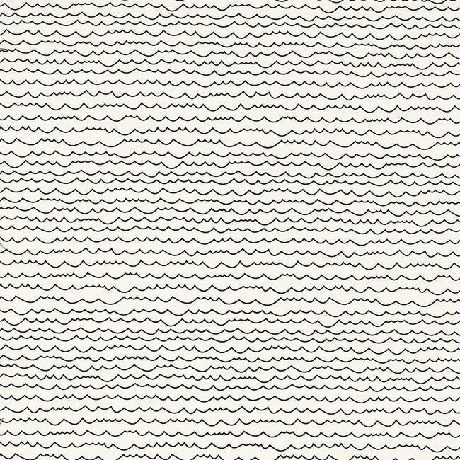 Waves Wallpaper, Black/White