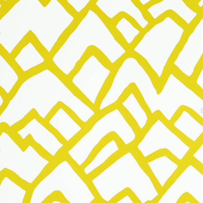 Zimba Wallpaper, Citron - Wallpaper - 1
