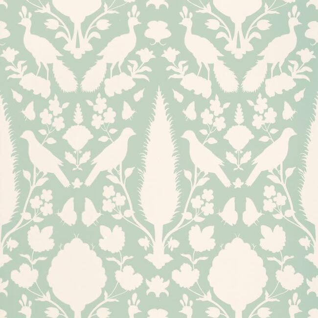 Chenonceau Wallpaper, Aquamarine