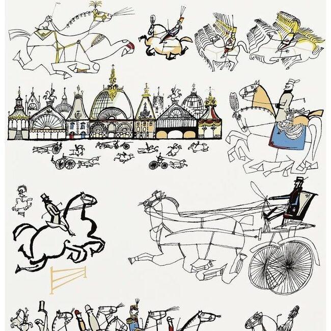 Horses Wallpaper, Multi