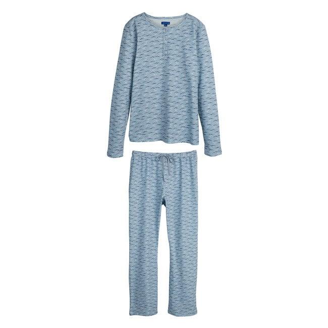 Eliza Women's Pajama Set, Blue Seagulls