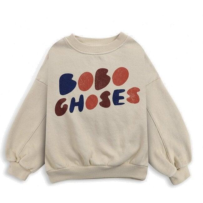Logo Sweater, Beige