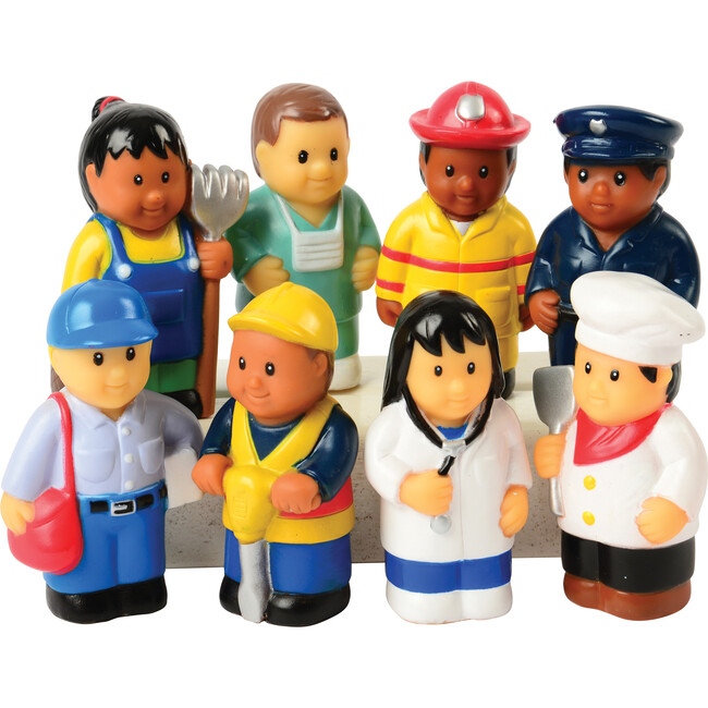"""Set of 8 Community Workers 3"""" Tall - Games - 1"""