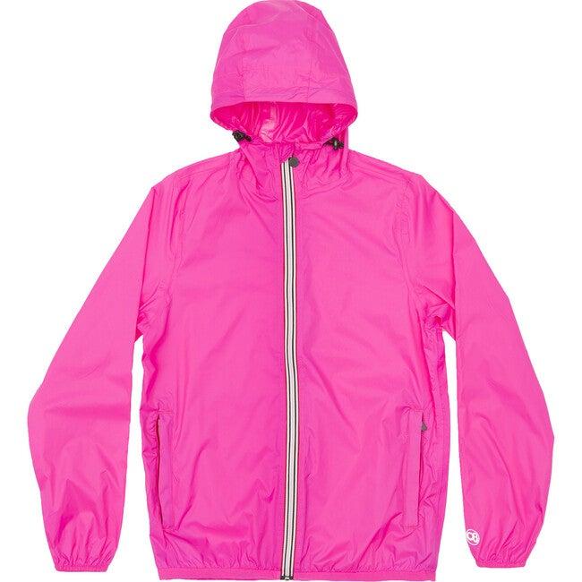 Women's Sloane Packable Rain Jacket, Pink Fluo - Raincoats - 1