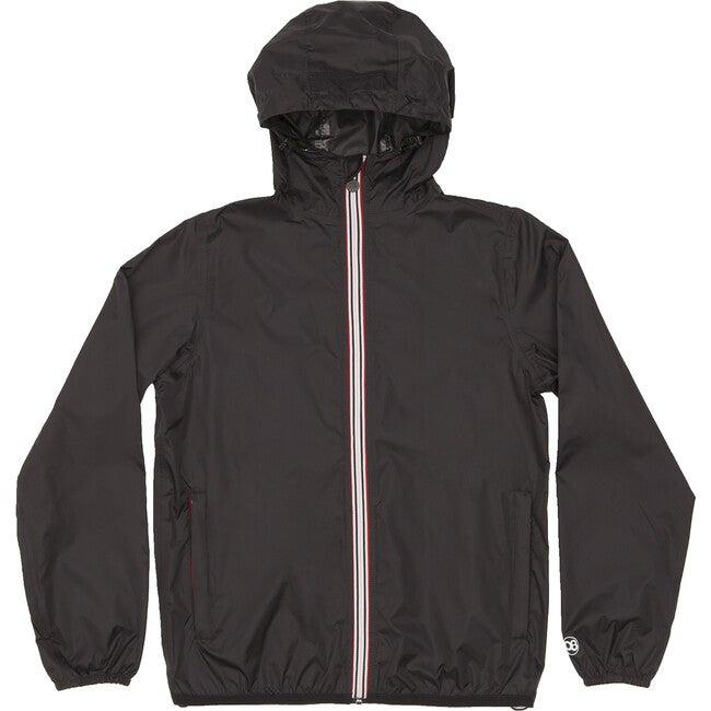 Women's Sloane Packable Rain Jacket, Black - Raincoats - 1