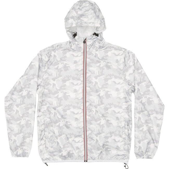 Women's Sloane Print Packable Rain Jacket, White Camo - Raincoats - 1