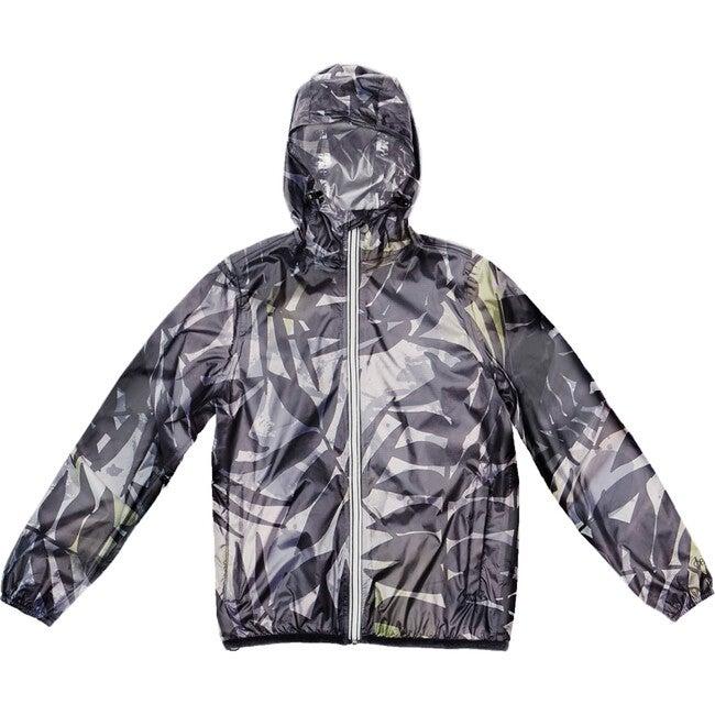 Women's Sloane Print Packable Rain Jacket, Palm Print - Raincoats - 1