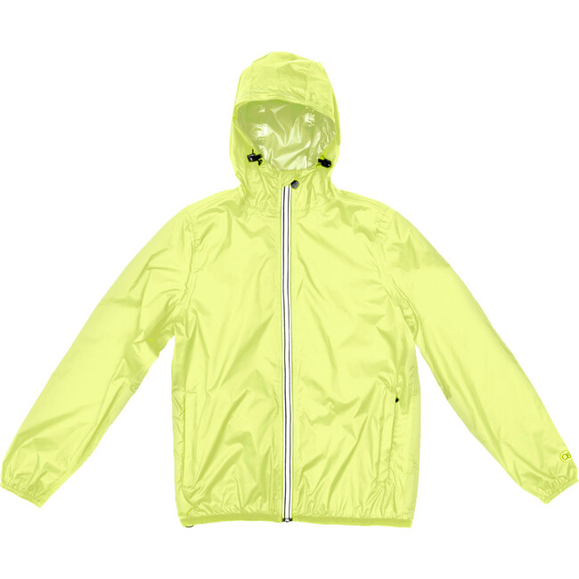 Sam Packable Rain Jacket, Yellow Fluo