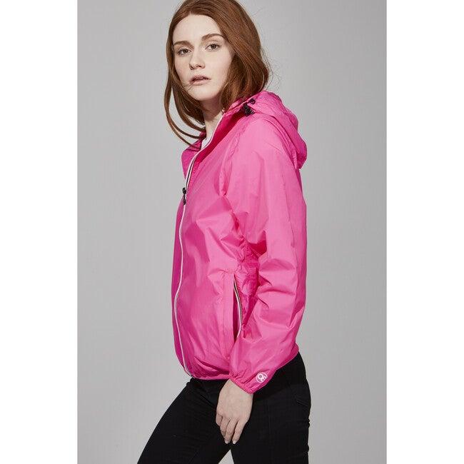 Women's Sloane Packable Rain Jacket, Pink Fluo