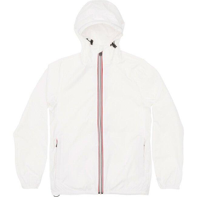 Sam Packable Rain Jacket, White - Raincoats - 1