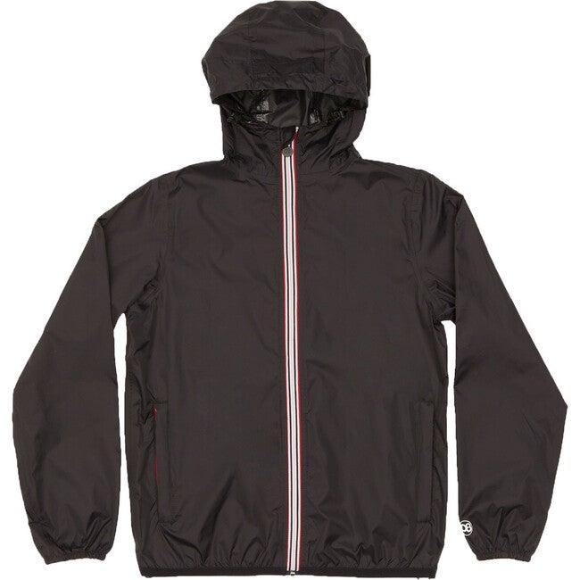 Sam Packable Rain Jacket, Black