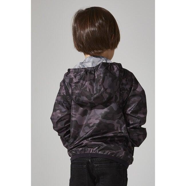 Sam Print Packable Rain Jacket, Black Camo