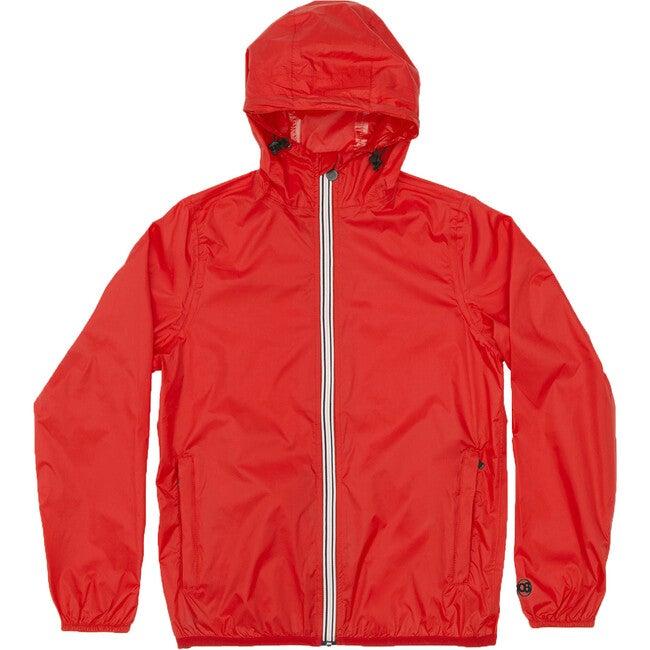 Men's Max Packable Rain Jacket, Red - Raincoats - 1