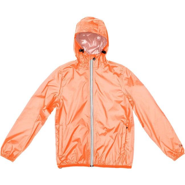 Sam Packable Rain Jacket, Orange Fluo