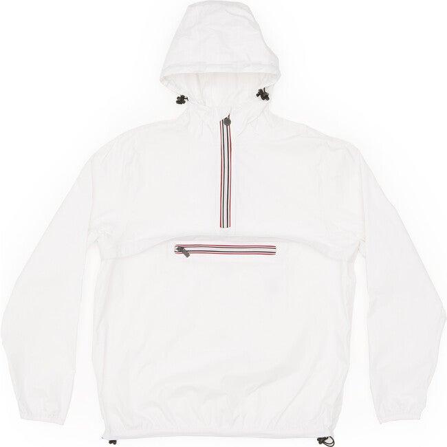 Adult Unisex Alex Packable Rain Jacket, White - Raincoats - 1