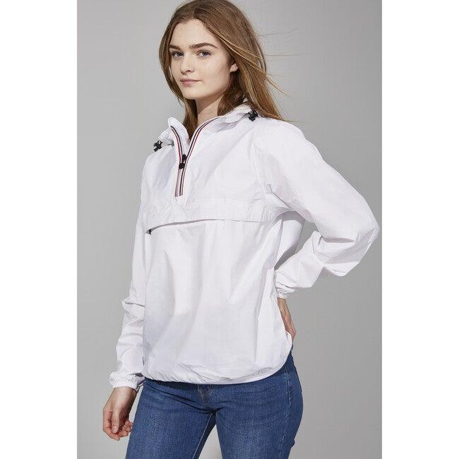 Adult Unisex Alex Packable Rain Jacket, White